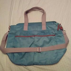 Pottery barn turquoise diaper bag
